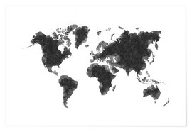Premium poster Map Of The World Sketch