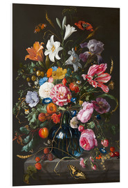 Foam board print  Vase of Flowers - Jan Davidsz de Heem