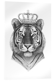 Acrylic glass  The Tiger King - Valeriya Korenkova