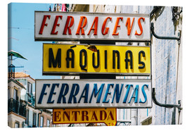 Canvas print  Colorful Vintage Store Signs In Lisbon - Radu Bercan