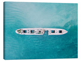 Canvas print  Shipwreck In The Middle Of The Ocean - Radu Bercan