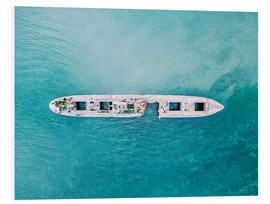 Foam board print  Shipwreck In The Middle Of The Ocean - Radu Bercan