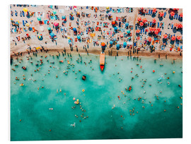 Foam board print  Colorful Summer At The Beach - Radu Bercan