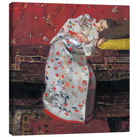Canvas print  Girl in a white kimono - Georg-Hendrik Breitner