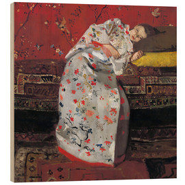 Wood print  Girl in a white kimono - Georg-Hendrik Breitner