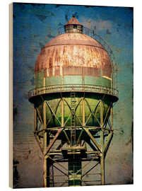Wood print  water tower - Dieter Ziegenfeuter