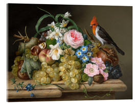 Acrylic glass  Two floral still lifes - Franz Xaver Petter