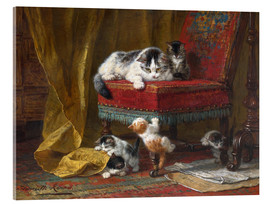 Acrylic print  Mother's Pride - Henriette Ronner-Knip