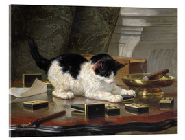 Acrylic print  The Cat at Play - Henriette Ronner-Knip