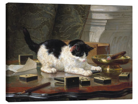 Canvas print  The Cat at Play - Henriette Ronner-Knip