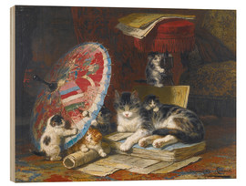 Wood print  Kittens At Play - Henriette Ronner-Knip
