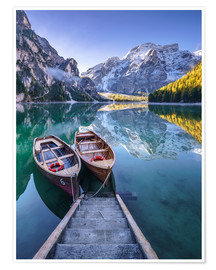 Premium poster Braies South Tyrol