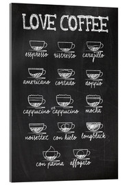 Acrylic print  Coffee variants - Typobox