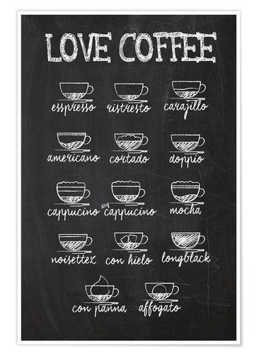 Poster Coffee variants