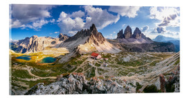 Acrylic print  Panorama of Refuge Antonio Locatelli, South Tyrol - Dieter Meyrl
