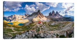 Canvas print  Panorama of Refuge Antonio Locatelli, South Tyrol - Dieter Meyrl