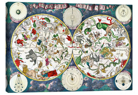 Canvas print  Celestial map - Frederick de Wit
