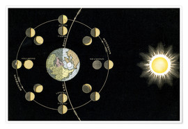 Premium poster  Origin of the moon phases
