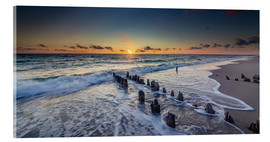 Acrylic print  Groynes in the sunset - Heiko Mundel