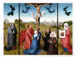 Premium poster Triptych, The Crucifixion