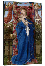Aluminium print  Madonna with child at the well - Jan van Eyck