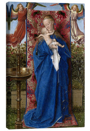Canvas print  Madonna with child at the well - Jan van Eyck
