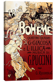 Canvas print  La Boheme of Puccini - Adolfo Hohenstein