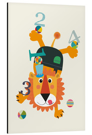 Aluminium print  Colourful counting lion - Jaysanstudio