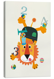 Canvas  Colourful 123 lion - Jaysanstudio