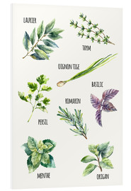 Foam board print  Spices - French