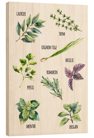 Wood print  Spices - French
