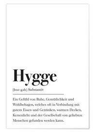 Poster  Hygge Definition German - Johanna von Pulse of Art