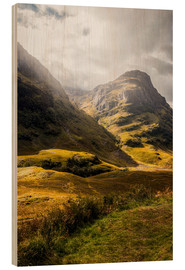 Wood print  Glencoe Valley Scotland - Sören Bartosch