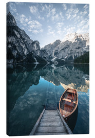 Canvas print  Braies lake moody sunrise - MUXPIX