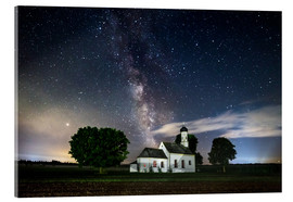 Acrylic print  Milky Way over St. Johann in Raisting - MUXPIX