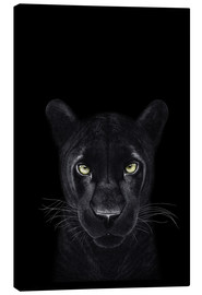 Canvas print  Black Panther on a black ground II - Valeriya Korenkova