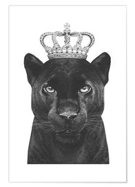 Premium poster  The King panthers - Valeriya Korenkova