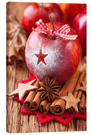 Canvas print  Red winter apples with cinnamon sticks and anise - Elena Schweitzer