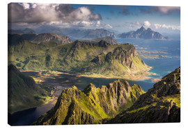 Canvas print  Mountains and fjords in Norway - Dennis Fischer