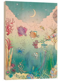 Wood print  Under the sea - Ella Tjader