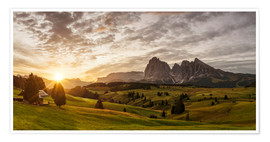Premium poster Sunrise at Alpe di Siusi