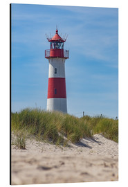 Aluminium print  Striped lighthouse - Heiko Mundel