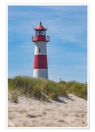 Premium poster  Striped lighthouse - Heiko Mundel