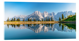 Acrylic print  Kaiser Mountains in Tyrol - Achim Thomae