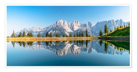 Premium poster  Kaiser Mountains in Tyrol - Achim Thomae