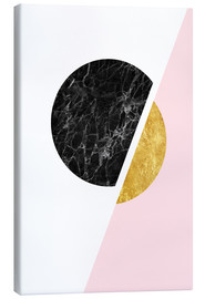 Canvas  Scandinavian composition with marble and gold - Radu Bercan
