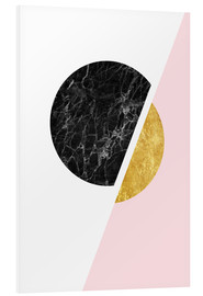 Foam board print  Scandinavian composition with marble and gold - Radu Bercan