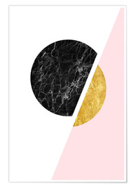 Poster  Scandinavian composition with marble and gold - Radu Bercan