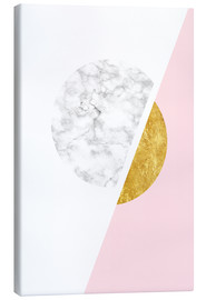 Canvas  Scandinavian design with marble and gold - Radu Bercan