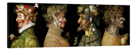 Aluminium print  The four seasons - Giuseppe Arcimboldo